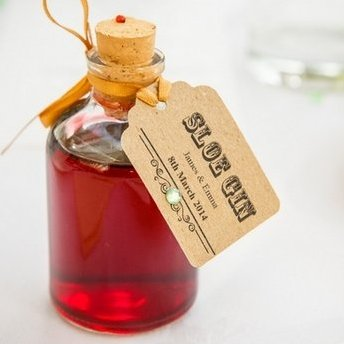These small attractive empty demijohn shaped bottles with your own personalised labels or tags can add the finishing touch for your guests on that special day or event.